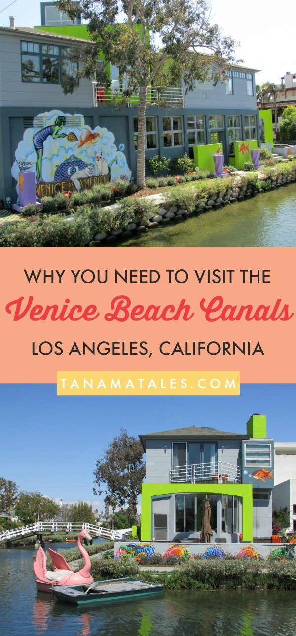 Things to do in #LosAngeles, #California – Travel tips and vacation ideas - The Venice Beach Canals are an oasis of colorful houses, fairytale bridges and peaceful waters. This is a hidden treasure of Los Angeles you need to check. Leave behind the crowds of other parts of Venice (Boardwalk, Abbot Kinney) and spend a couple of hours in a peaceful environment. You will not regret stopping by the canals! #VeniceBeach #LA #SouthernCalifornia #Beach