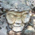 Statue located close to the Acropolis, Copan, Honduras