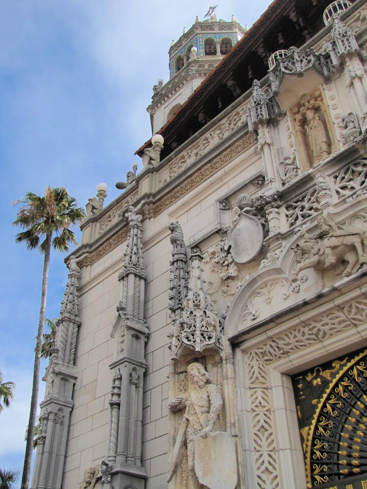 Facade of La Casa Grande, Hearst Castle