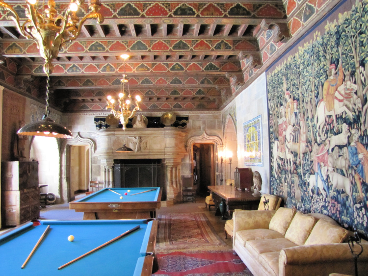 The Billiard Room, Hearst Castle, San Simeon, California