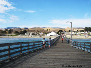 Santa Lucia Mountain Range seen from the Cayucos Pier