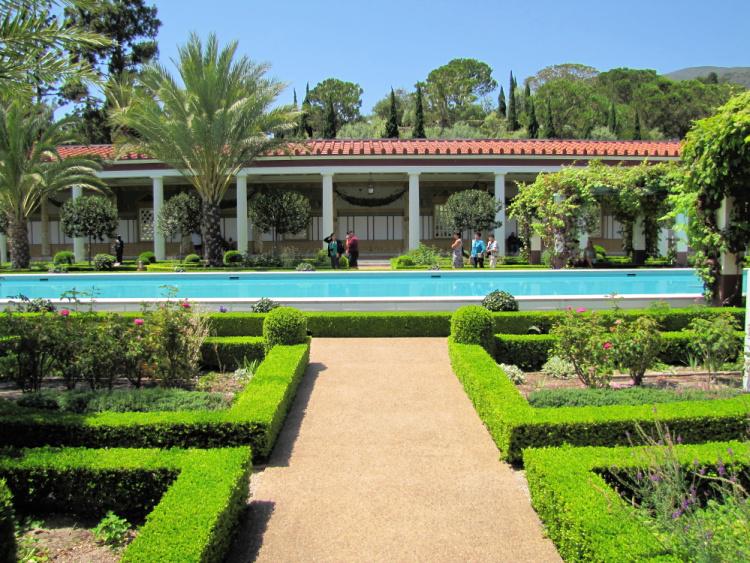 Courtyard Seen from the Side, Getty Villa, Malibu, California