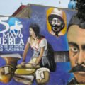 Mural conmemorating the 150 years of the Battle of Puebla, Puebla, Mexico