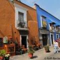 Scene from the alley, Callejon de los Sapos, Puebla, Mexico
