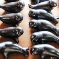 Black clay figures, San Bartolo Coyotepec, Oaxaca, Mexico