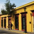 Colorful streeting in colonial center, Oaxaca, Mexico