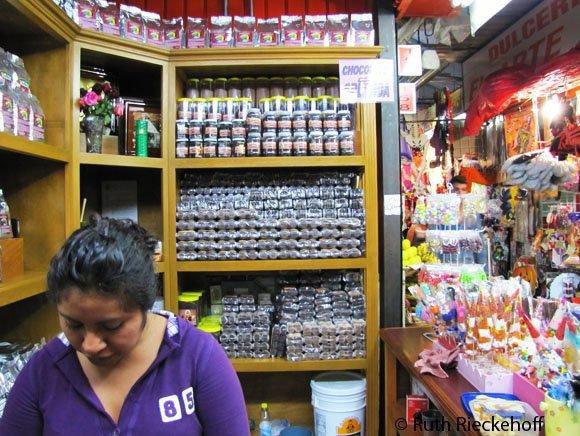 Chocolate Vendor in Mercado Benito Juarez, Oaxaca, Mexico
