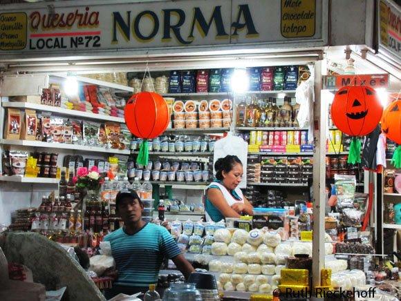 Vendor at Benito Juarez Market, Oaxaca, Mexico