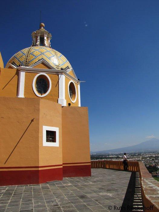 One of the Nuestra Señora de los Remedios Church's cupola