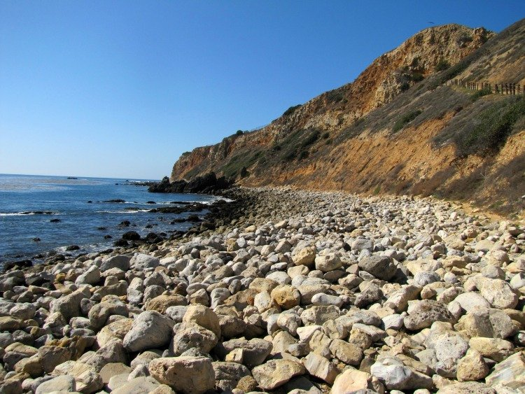 Beach Level View at Pelican Cove, Rancho Palos Verdes, California