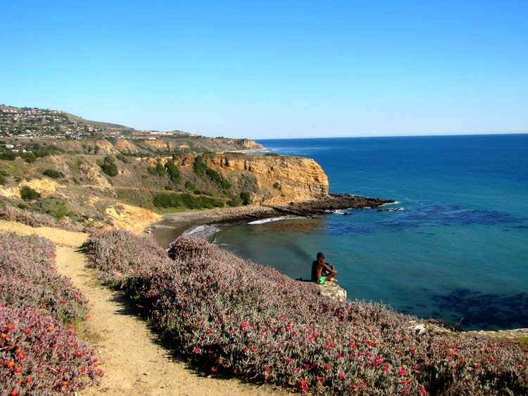 View of Sacred Cove or Smuggler's Cove, t Abalone Cove Shoreline Park, Palos Verdes Peninsula, Los Angeles California
