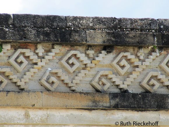Greca or Carved Fringe, Mitla, Oaxaca, Mexico