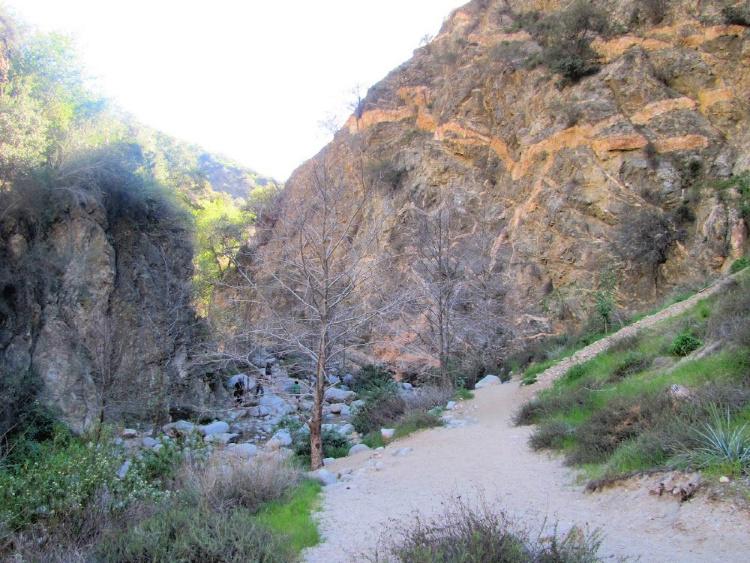 Hiking in Eaton Canyon