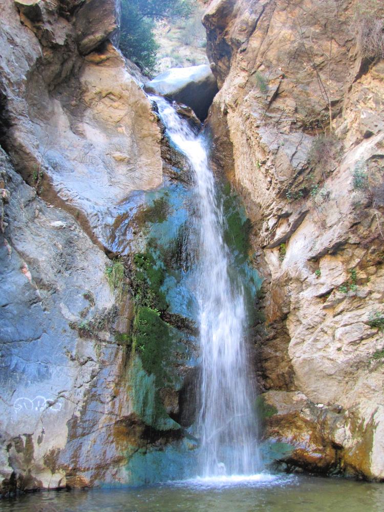 A closeup of Eaton Canyon near Pasadena