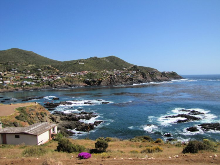 View of the La Bufadora Cove, Ensenada, Mexico