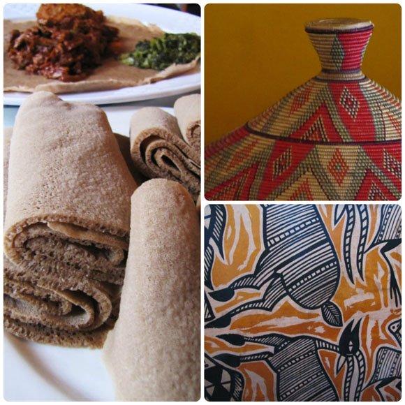 Enjera Bread, Little Ethiopia, Los Angeles, California