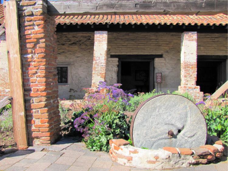 Large stone press, Mission San Juan Capistrano, California