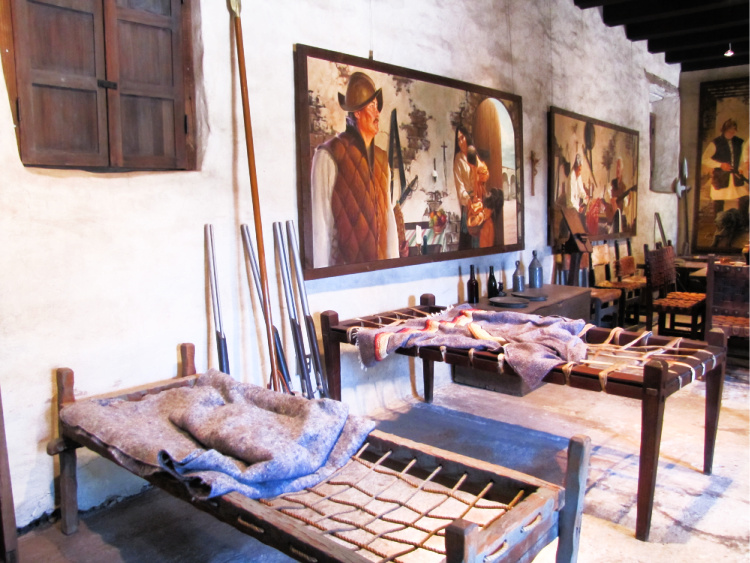 Sleeping quarters, Mission San Juan Capistrano, California