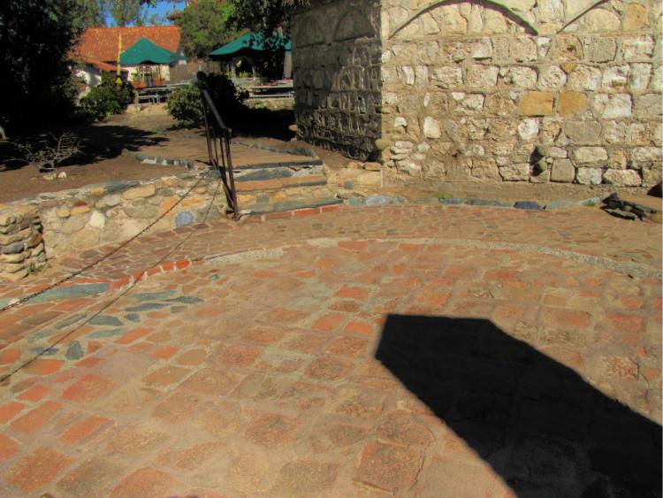 Circular area used to stretch hides, Mission San Juan Capistrano, California