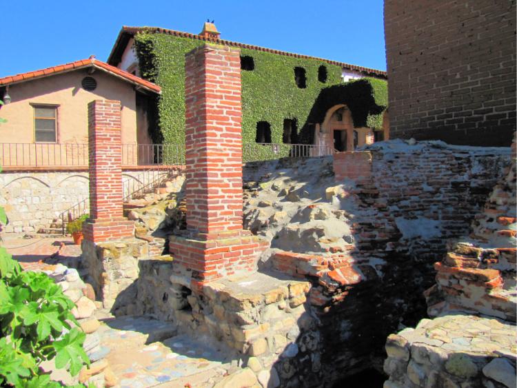 Catalan furnaces, Mission San Juan Capistrano, California