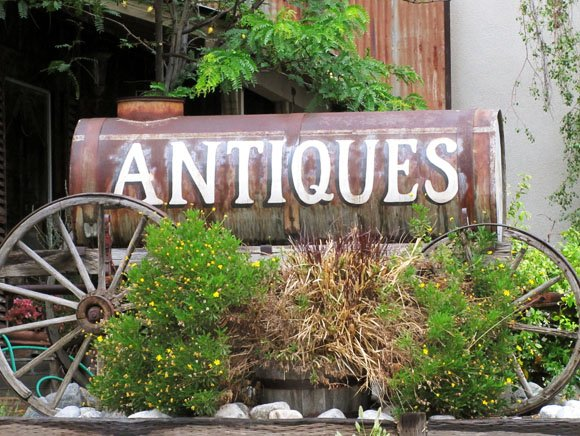 Antiques Sign, Old Town Temecula, California