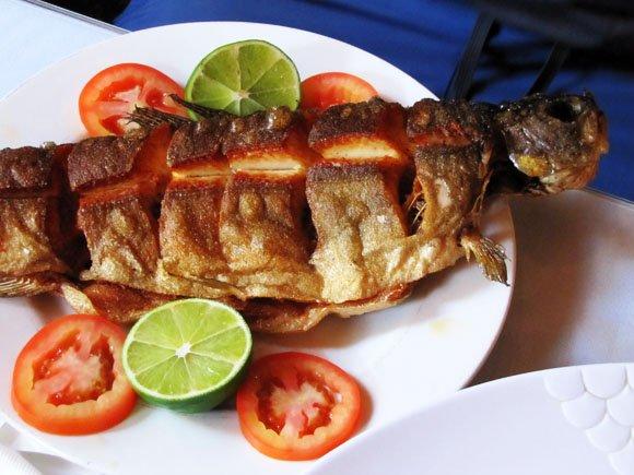 Fish tibs plate, Little Ethiopia, Los Angeles, California