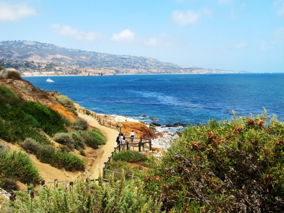 Coastal access from Terranea's Bluff Top Trail, Palos Verdes, California