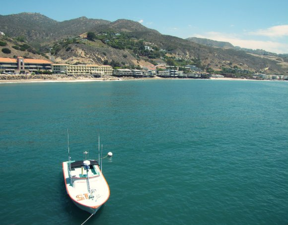 View of Santa Monica Mountains from Malibu's Pier, Malibu, California