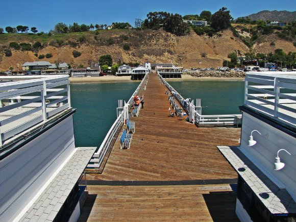 View from the pier's seconf story, Malibu Creek State Beach, Malibu, California