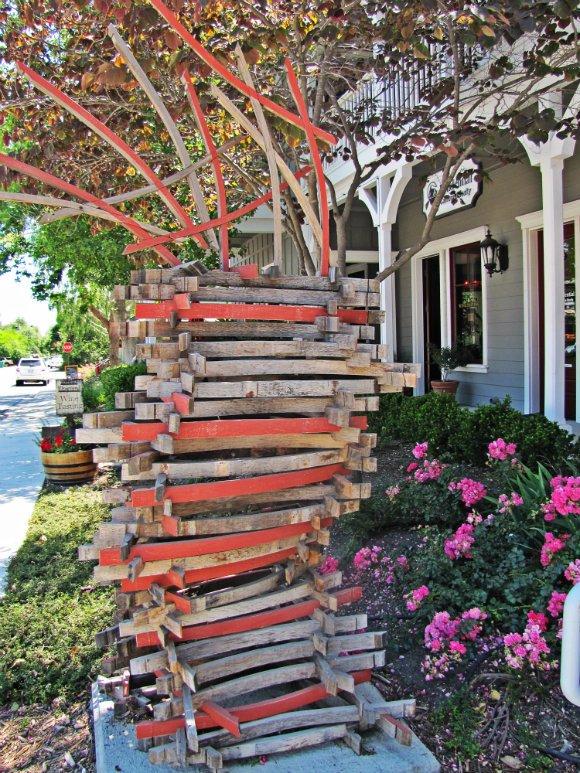 Wooden Sculpture / Art, Los Olivos, California