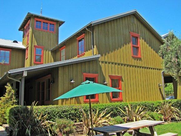 Back Patio of Corner House Coffee, Los Olivos, California