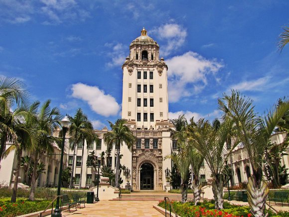 Beverly Hills' City Hall, Beverly Hills, California