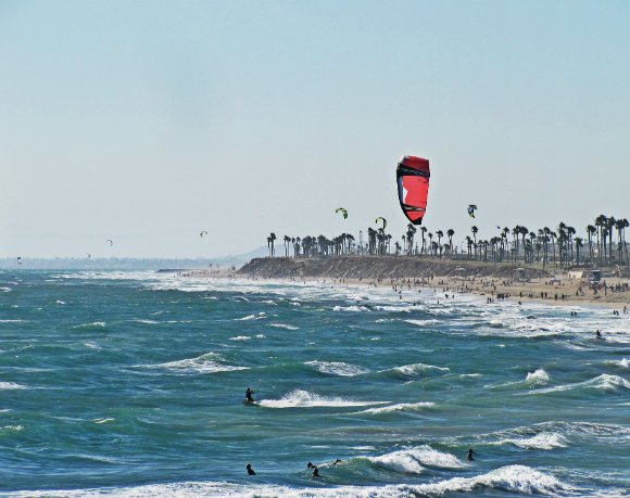 Kite Surfing, Huntington Beach, California