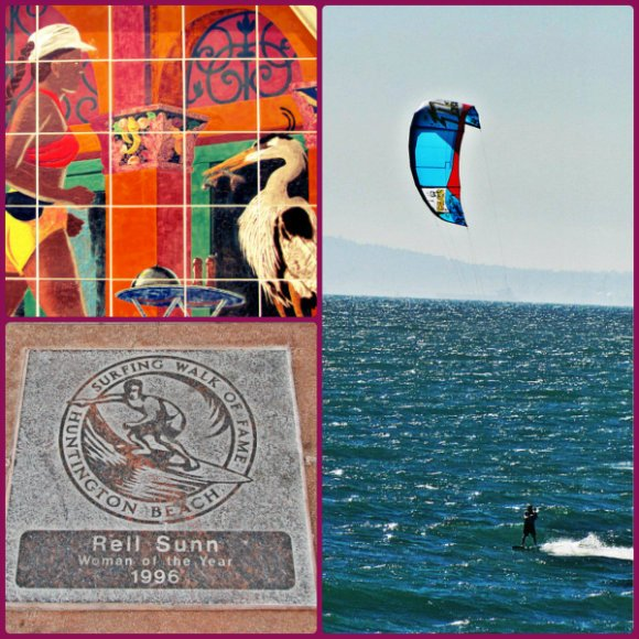 Huntington Beach Scenes (Kite Surfing, Surfing), California