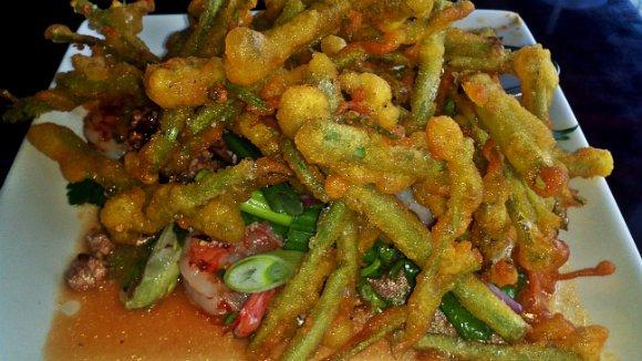 Morning Glory Salad, Crispy Pork Gang, Thai Town, Los Angeles, California