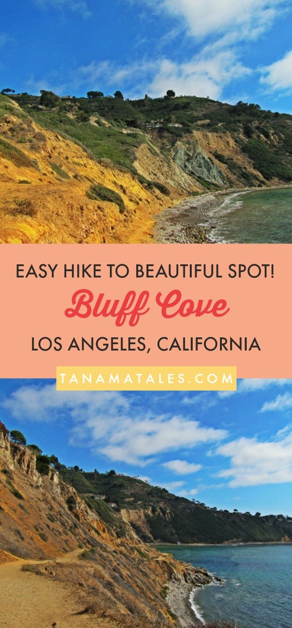 Things to do in #LosAngeles, #California – Travel tips and vacation ideas – Bluff Cove, a sheltered cove in the Palos Verdes Peninsula, is accessed through a 1000 feet trail. You start the walk with a short descend and after that, you are going to reach Flat Rock Point. After this point, it is a flat walk to the actual cove. This easy trail takes you to a beautiful spot! #beach #SouthernCalifornia #LA