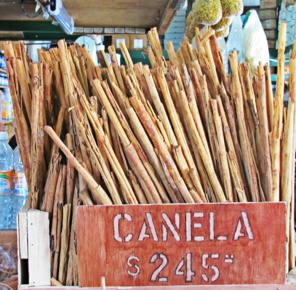 Cinnamon sticks,  Mercado Hidalgo, Tijuana, Mexico