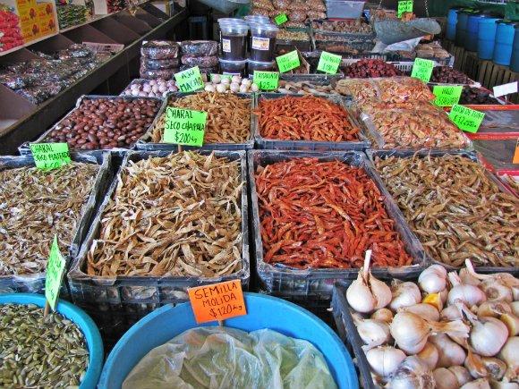 Dry fish and spices, Mercado Hidalgo, Tijuana, Mexico