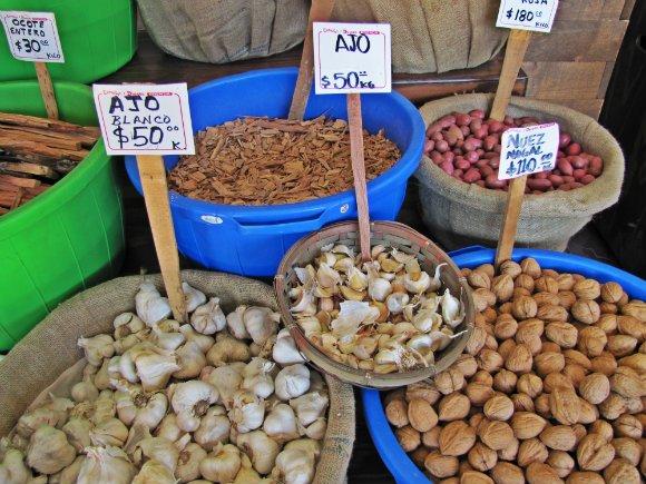 Garlic, nuts and spice, Mercado Hidalgo, Tijuana, Mexico
