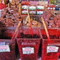 Candied fruit and sweet and sour fruit, Mercado Hidalgo, Tijuana, Mexico