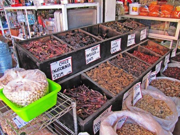 Dried Chilies, Mercado Hidalgo, Tijuana, Mexico