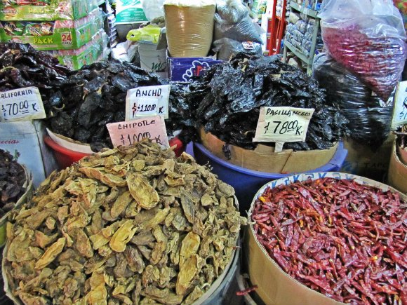 Dried Chilies, Mercado Hidalgo, Tijuana, Mexico