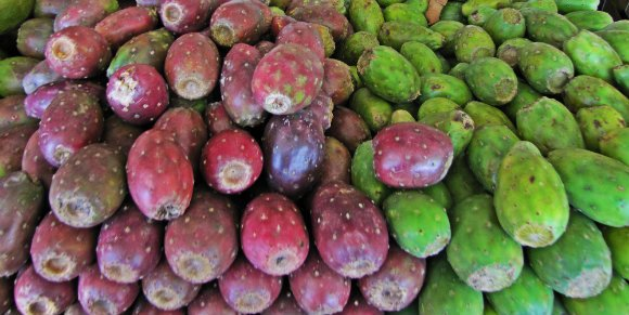 Prickly pears or xoconostle, Mercado Hidalgo, Tijuana, Mexico