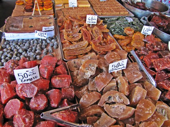 Candied fruit, Mercado Hidalgo, Tijuana, Mexico