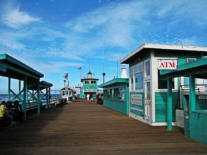Green Pier, Avalon Bay, Catalina Island, Clear sky