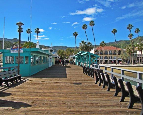 Green Pier, Avalon Bay, Catalina Island, Clear sky