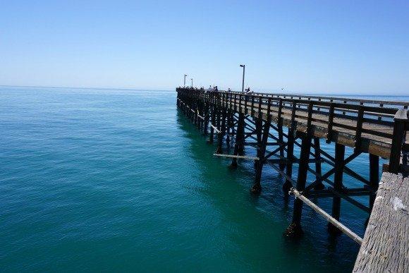 Goleta Pier at Goleta Beach Park, Santa Barbara, Piers in Southern California