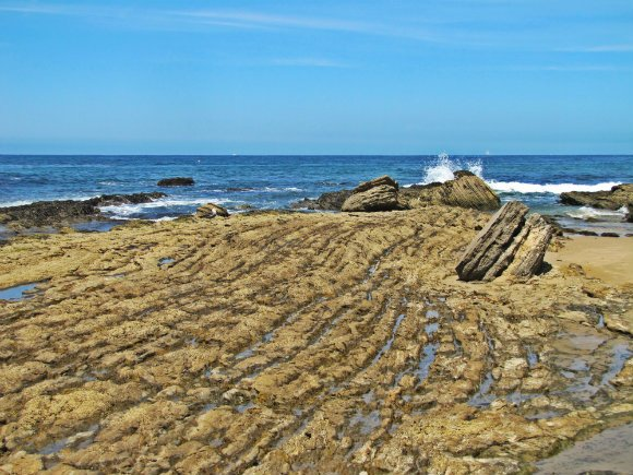 Tide pools and rock formations near historic district, , Crystal Cove, Laguna Beach, California