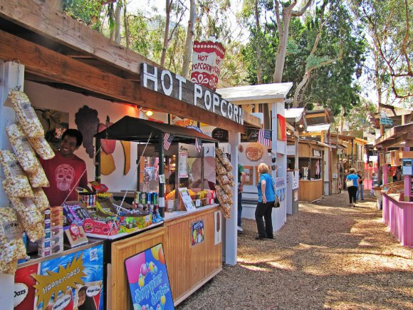 Booths and forested settings, Sawdust Art Festival, Laguna Beach