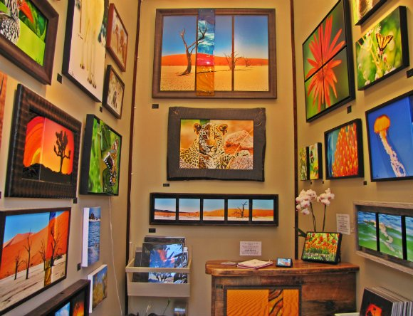Colorful works of art, Sawdust Art Festival, Laguna Beach, California